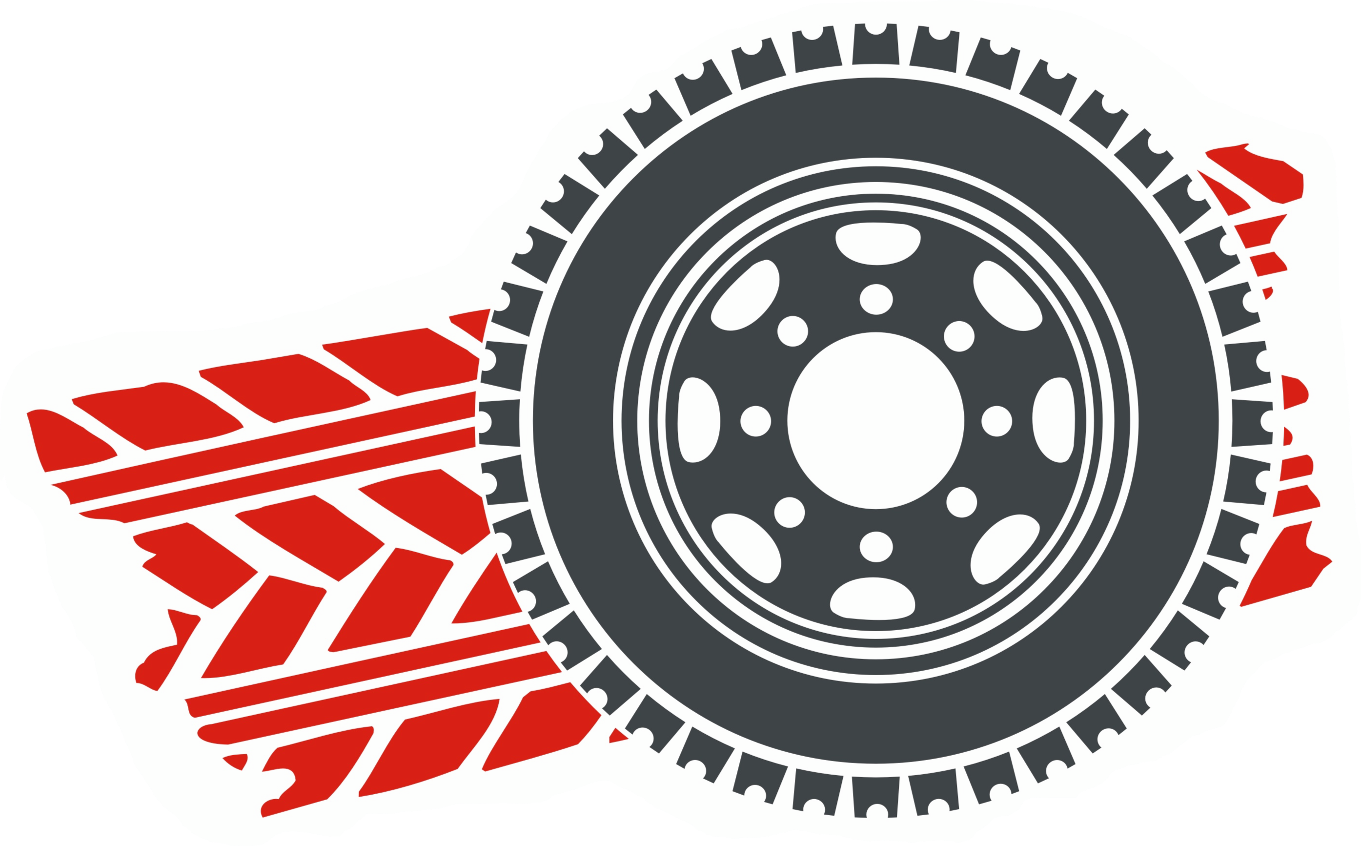 4x4 tire vector red
