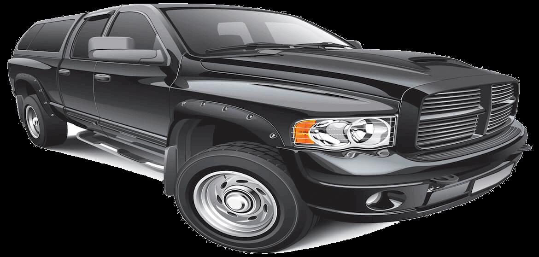 black dodge truck