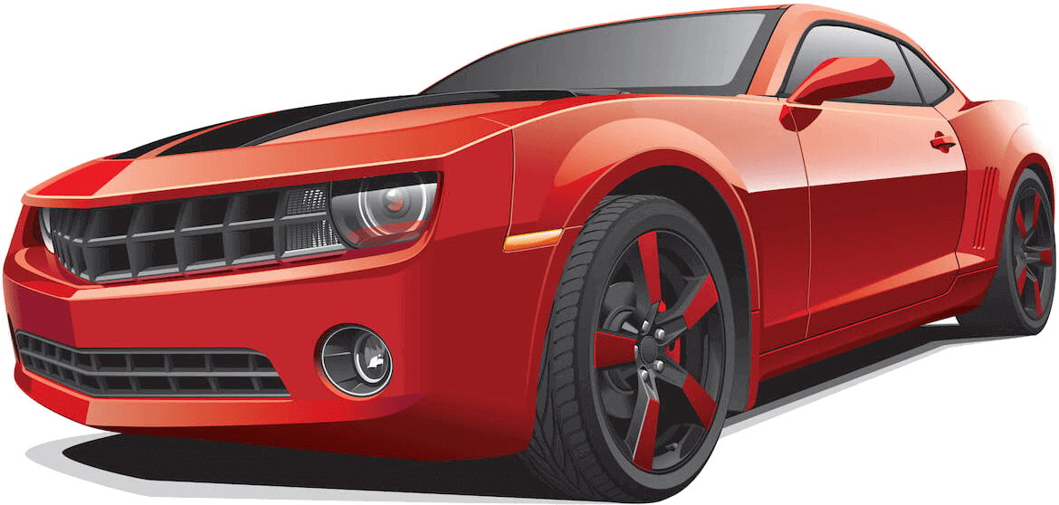 red chevy camero
